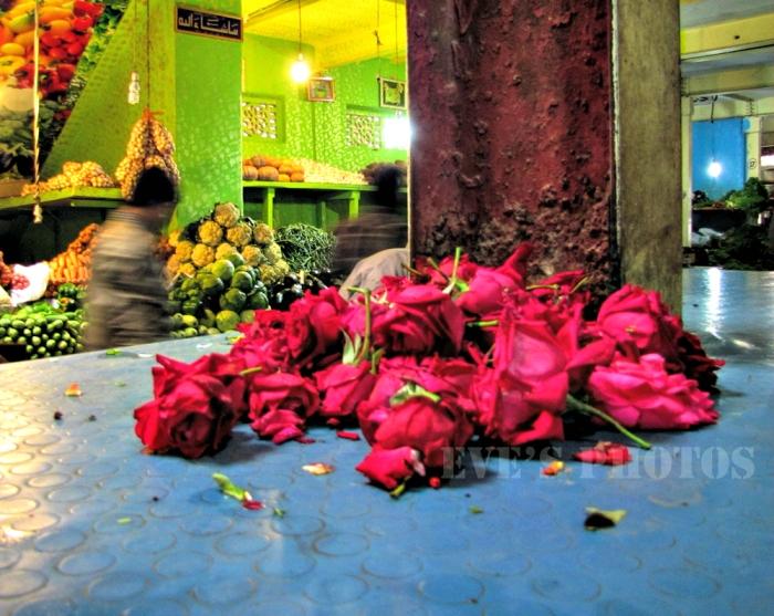 The Flower Market -Bangalore, India.